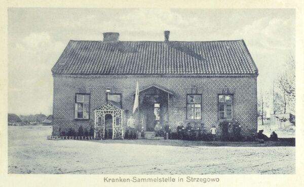 Military Cottage Hospital at Strzegowo in Poland Date: circa 1910s