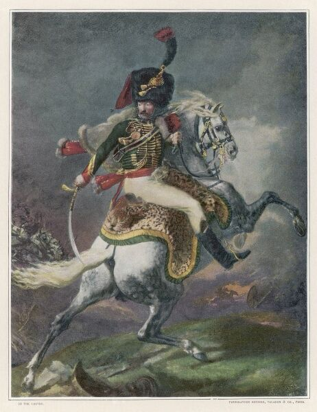 An officer of the Mounted Chasseurs of the Imperial Guard : charging