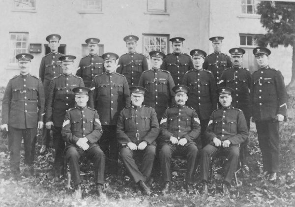 A group photo of military police belonging to the Welsh Regiment