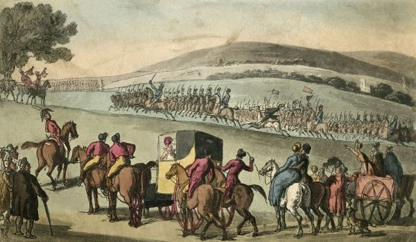 A military review. Date: 1812