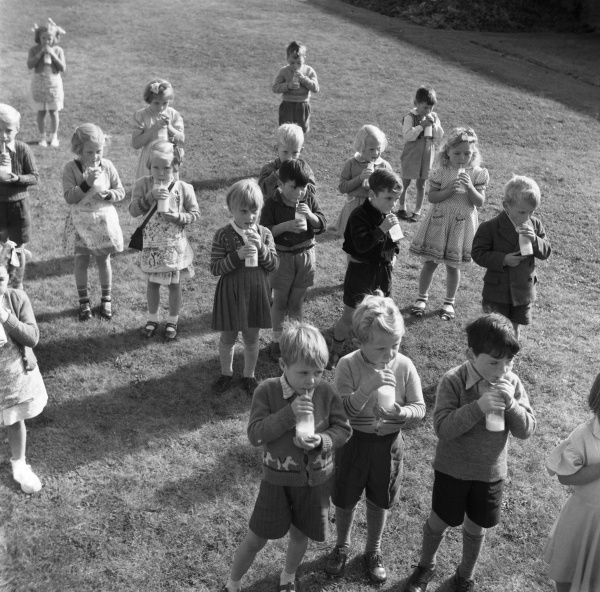 Before Margaret 'Thatcher the milk snatcher' put and end to free school milk for the over sevens, all primary school children would enjoy their daily third pint 'ration' at school