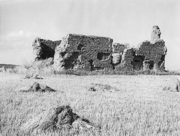 The ruins of Eastbridge Chapel, Minsmere, Suffolk, England. Once a Premonstratensian church, probably abandoned due to vulnerability to the sea. Date: late 12th century