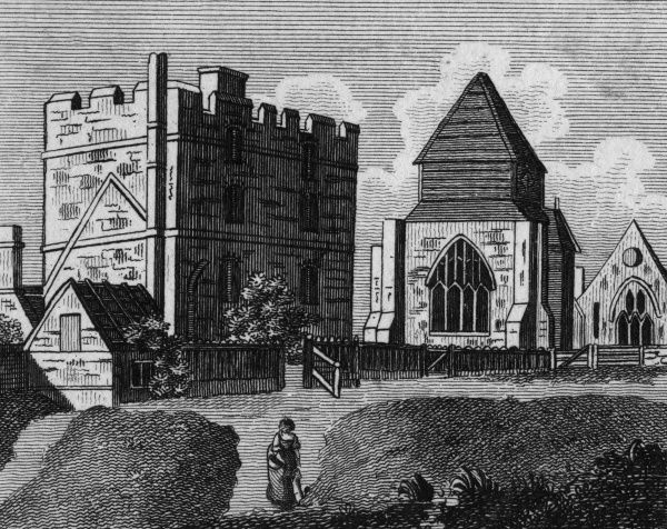 Minster Monastery, on the Isle of Sheppey, Kent Date: circa 1770
