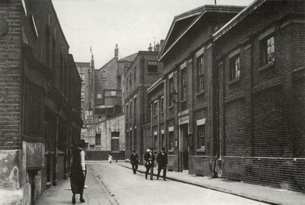 View of the entrance (right of centre) to the St Saviour's Union workhouse on Mint Street, Southwark, south London