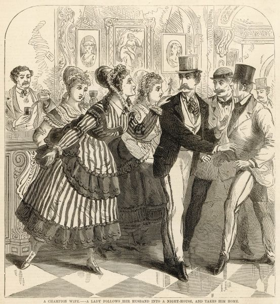 A wife persuades her erring husband to leave a Piccadilly night-house