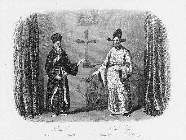 Matteo Ricci with convert Paul Ly