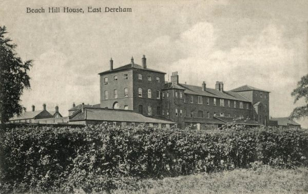 The Mitford and Launditch Union workhouse at Gressenhall, Norfolk, originally opened in 1777 by the Mitford and Launditch Hundreds Incorporation. Later known as Beech Hill House (misspelt on the picture), the building is now a museum