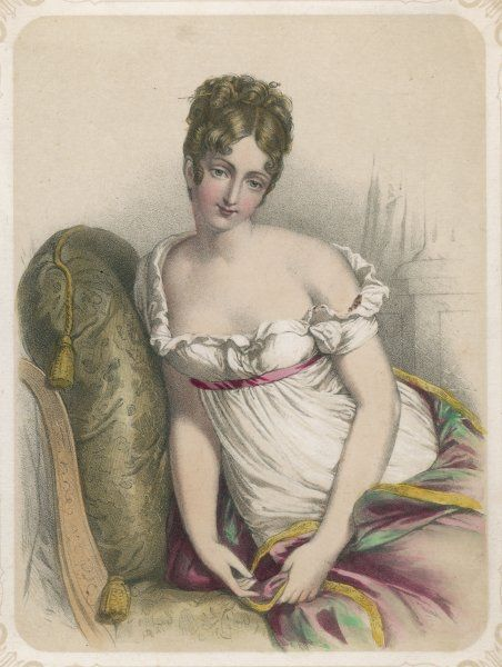 JEANNE-FRANCOISE-JULIE- ADELAIDE RECAMIER nee BERNARD French society beauty and wit