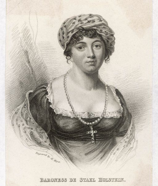 ANNE-LOUISE baroness DE STAEL French writer and saloniste