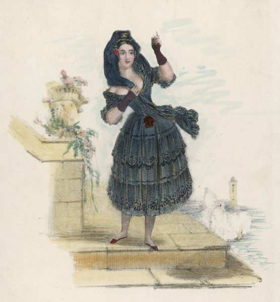 MADAME VESTRIS alias LUCIA ELIZABETH BARTOLOZZI, also MRS MATHEWS Singer in the role of Susanetta in 'The Two Figures&#39