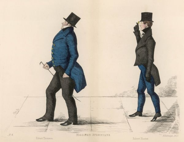 Mr Robert Thompson (c.1790-1857) Sheriff of Caithness, being followed by Mr Robert Hunter (1791-1871) Sheriff of Bute and Dumbarton