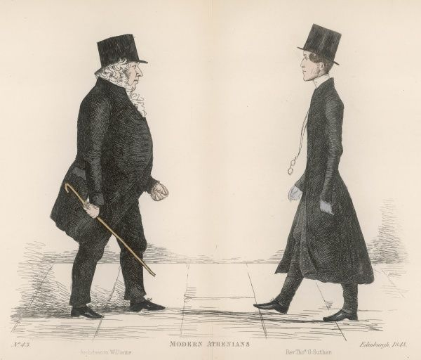 Archdeacon John Williams (1792-1858) churchman and friend of Sir Walter Scott, meeting Rev. Thomas George Spink Suther (1814-1883) later to be the Scottish Episcopalian bishop of Aberdeen from 1857-1865