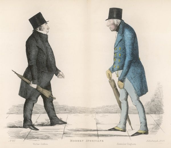 Walter Duthie (c. 1795-1868) Scottish lawyer, walking the same Edinburgh Street as Alexander Cleghorn (d. 1850) Inspector General of Exports and Imports for Scotland