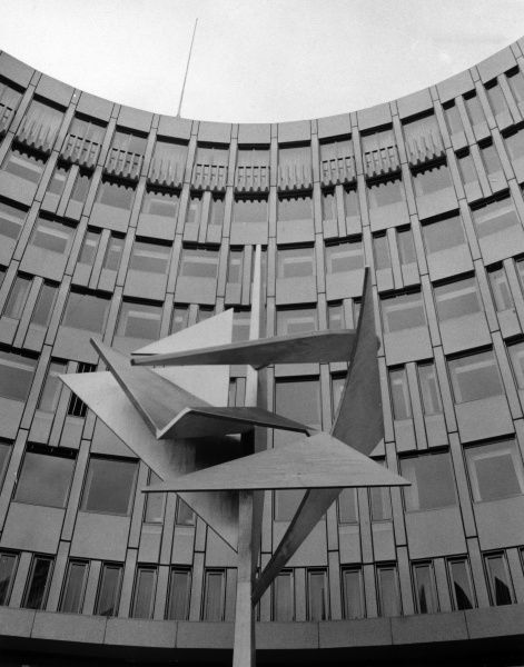 A 'modern' office block in Oslo, Norway. Date: late 1960s