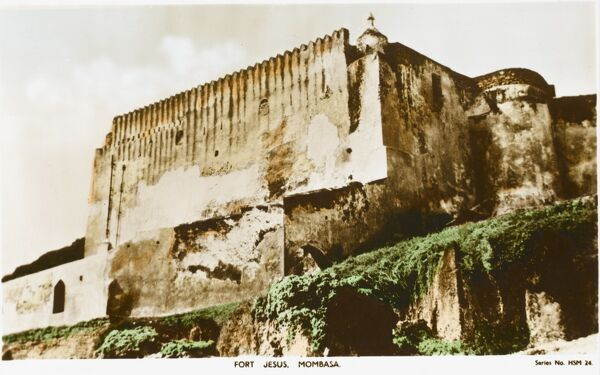 Fort Jesus at Mombasa, Kenya - overlooks the entrance to the old port and was built by the Portuguese between 1593 and 1596 to protect the trade routes to India and East Africa. Designed by Italian Architect Giovanni Battista Cairat