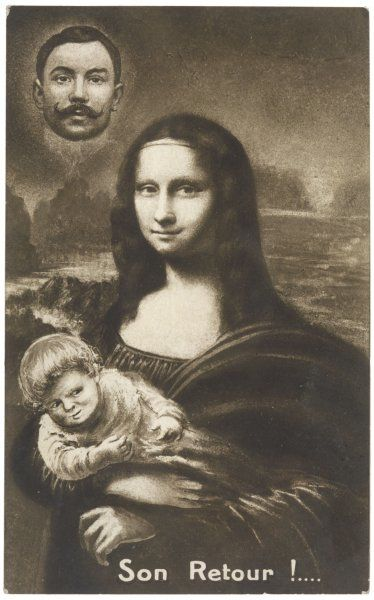 The Mona Lisa is back after her temporary absence... with a baby!