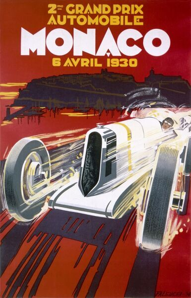 Poster for the 1930 Monaco Grand Prix
