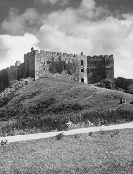 A view of Manorbier Castle in Pembrokeshire. The original castle waa founded by the De Barri family