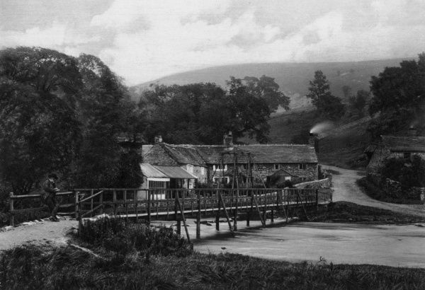 A view in Monsal Dale, in the Derbyshire Peak District Date: 1890s