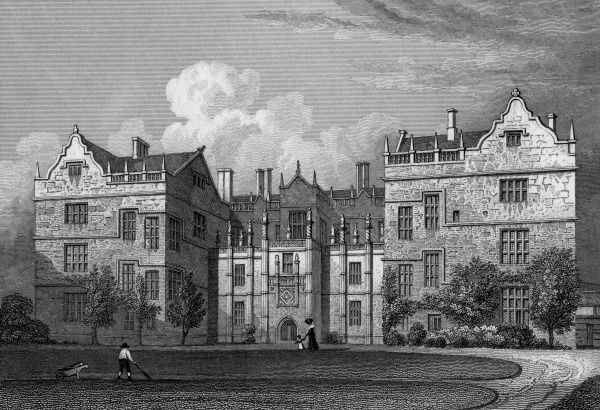 The west front of Montacute House, Somerset Date: 1830