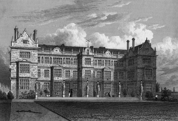 The east front of Montacute House, Somerset Date: 1830