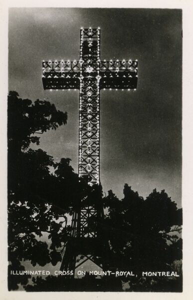 Montreal, Canada - Illuminated Cross on Mount Royal