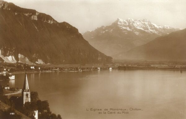 Montreux and Chillon, Switzerland - by Lake Geneva Date: circa 1920s