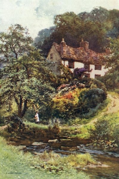 A moorland cottage at Forge Valley. Date: circa 1909
