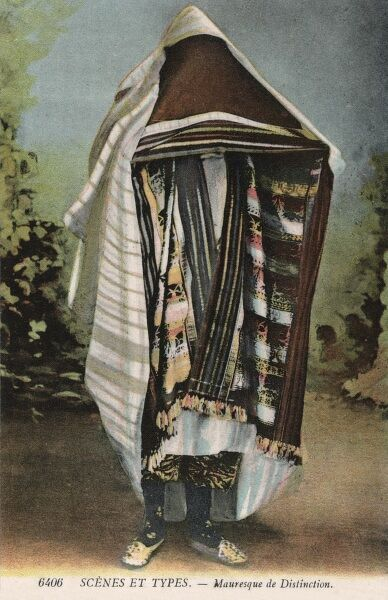 Moroccan Moorish Costume. A high class Moorish woman