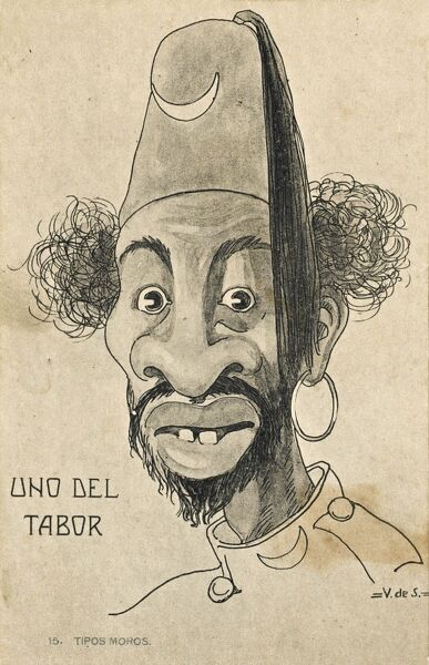 A Satire of a Moorish Moroccan soldier from a tabor