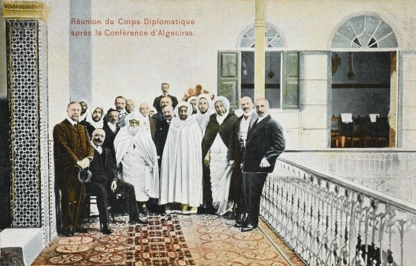 Morocco - Reunion of the Diplomatic Corps who had met originally at the 'Conference of Algeciras', held between (January 16th and April 7th 1906)