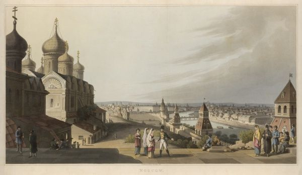General view of Moscow from the Kremlin, done shortly after Napoleon's visit