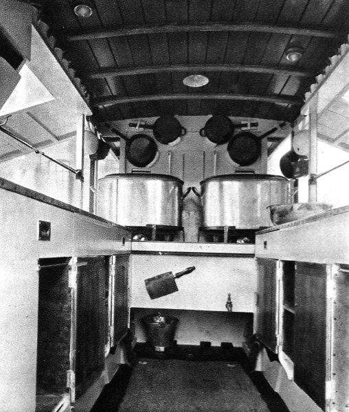 The field kitchen was donated by Dr Hector Munro and designed by Barker and Co
