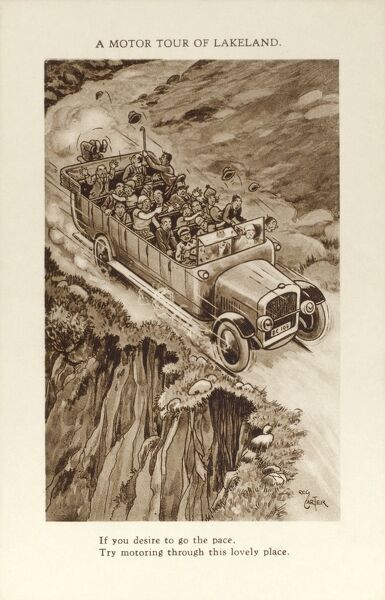 A Motor Tour of Lakeland If you desire to go the pace, try motoring through this lovely place !! circa 1920s