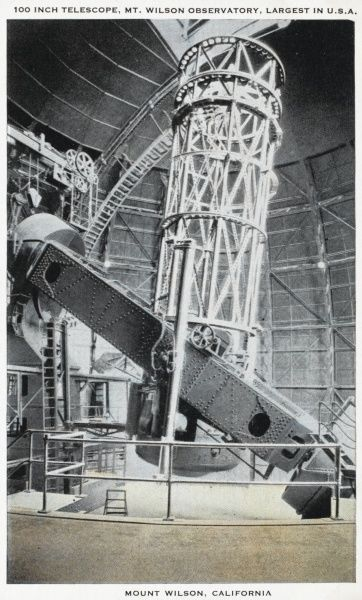 100 inch telescope at Mt Wilson Observatory, Mount Wilson, California, America