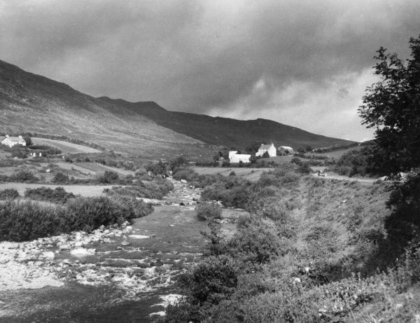 A view of the mountains of County Kerry at Drumavaka, Ireland. Date: 1930s
