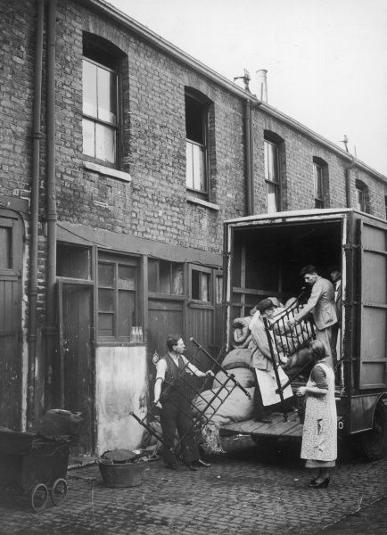 Moving home, from three rooms over a stable to a London County Council flat