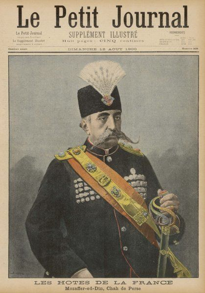 MOZAFFAR OD-DIN SHAH Shah of Iran (1896-1907), an unpopular and incompetent ruler Date: 1852 - 1907
