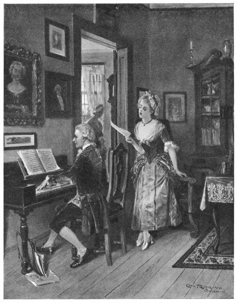WOLFGANG AMADEUS MOZART the Austrian composer with the accomplished singer Aloysia Weber, whose sister Konstanze he later married