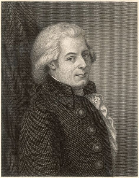 WOLFGANG AMADEUS MOZART the Austrian composer at the age of 35