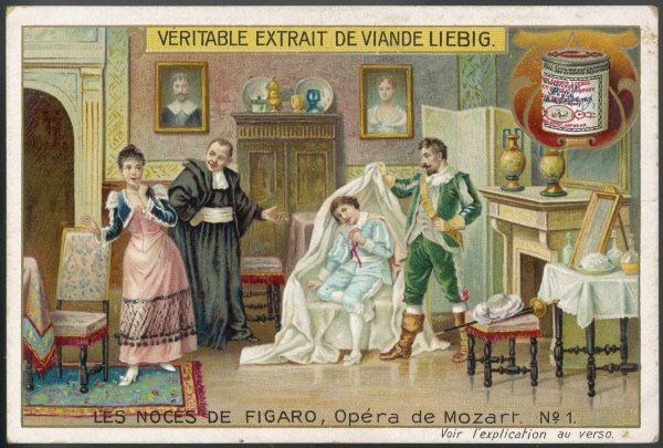 (The Marriage of Figaro) Count Almaviva discovers Cherubino hiding, and realises he has overheard his attempt to seduce Susanna