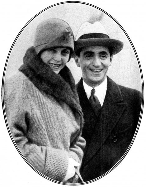 Photograph showing Irving Berlin (1888-1989), the American musician and composer, and his wife, formerly Miss Ellen Mackay, arriving in England on their honeymoon, 1929