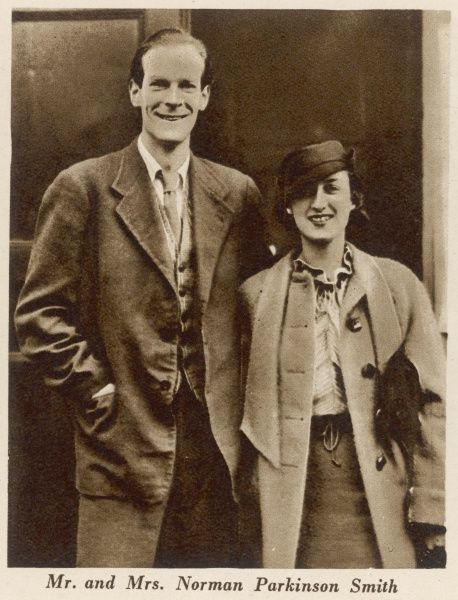 Norman Parkinson (1913 - 1990), British portrait and fashion photographer pictured with his first wife Peggy Mitchell Banks shortly after their marriage in 1935. Parkinson's career took off after working as a photographer for The Bystander