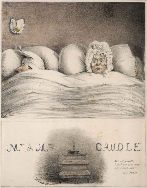 "Mr. & Mrs. Caudle in bed: ""'No! Mr. Caudle, I shall not go to sleep like a good soul!'&quot"