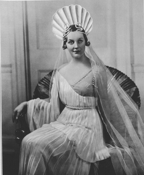 Front cover photograph from The Sketch of the Hon. Mrs. Bryan Guinness, formerly the Hon. Diana Mitford, cast as the role of Venus at the Olympian Party and Ball on March 5th 1935 in aid of the Greater London Fund for the Blind