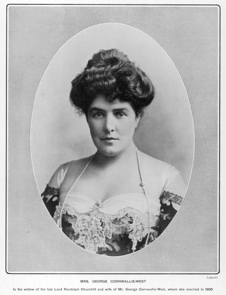 JENNIE JEROME, formerly Lady Randolph Churchill and mother of Winston, pictured in 1902 when she was married to George Cornwallis West
