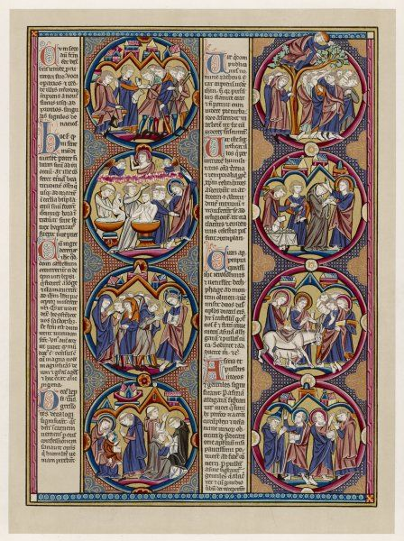 Scenes from Bible history in a French manuscript