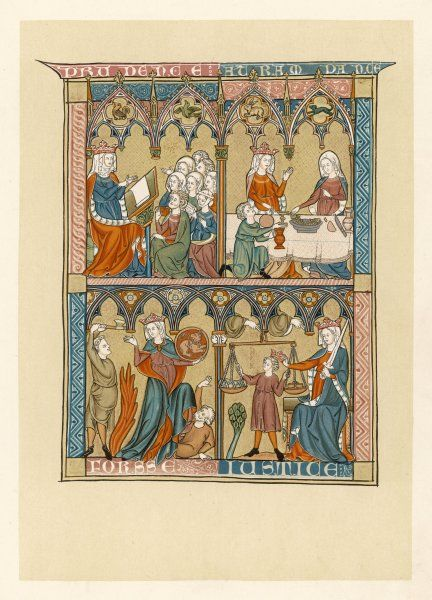 Bible scenes depicted in the French manuscript 'Somme le roi&#39