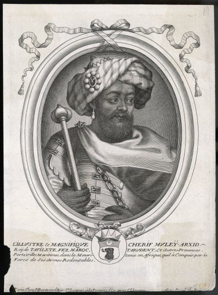 MULEY RACHID Sultan of Morocco and Fez