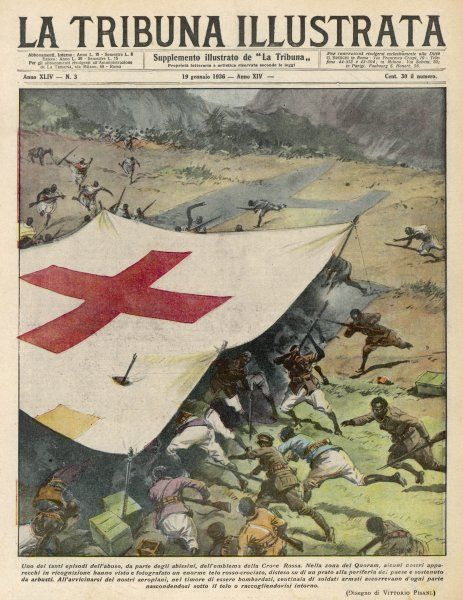 Ethiopians conceal men and munitions under a Red Cross flag